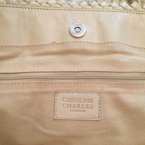 Caroline Charles Bags - Caroline Charles London Leather Woven Tote Large 1ebc40b81
